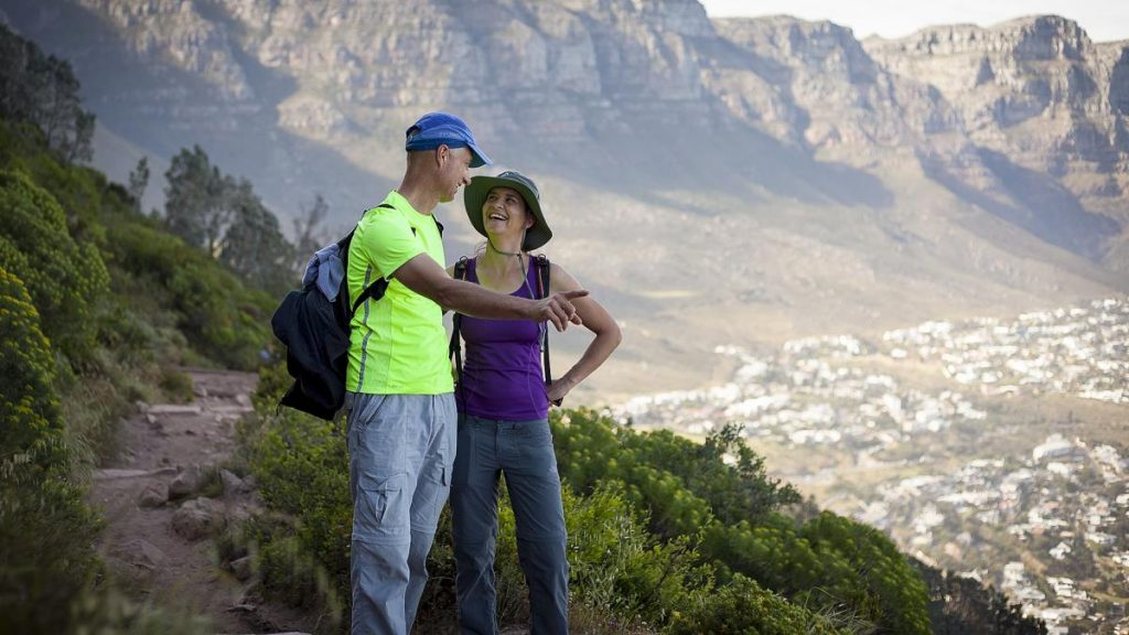Like2Hike Mountain guides on Lion's Head, with the 12 Apostles in the background