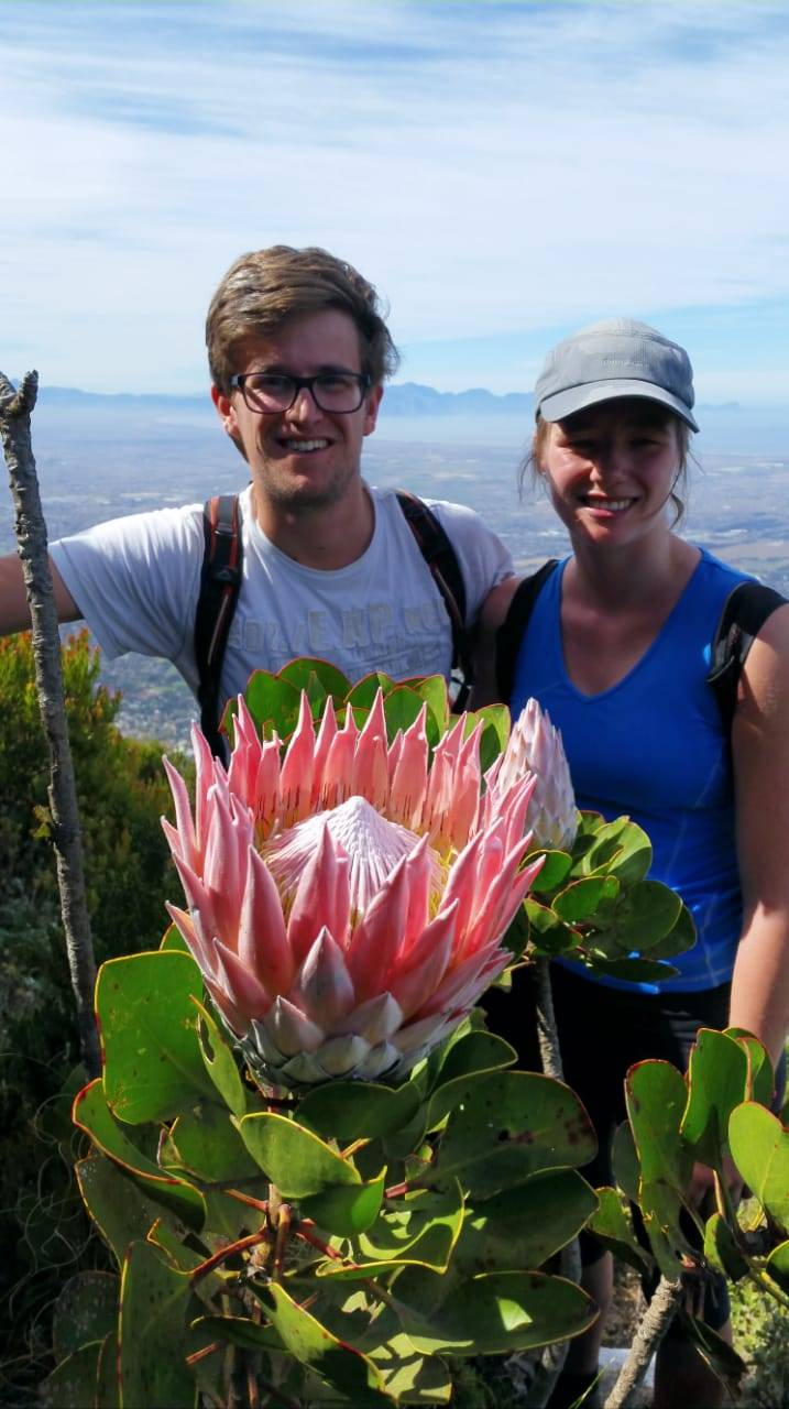 Beautiful young German couple on Devil's Peak