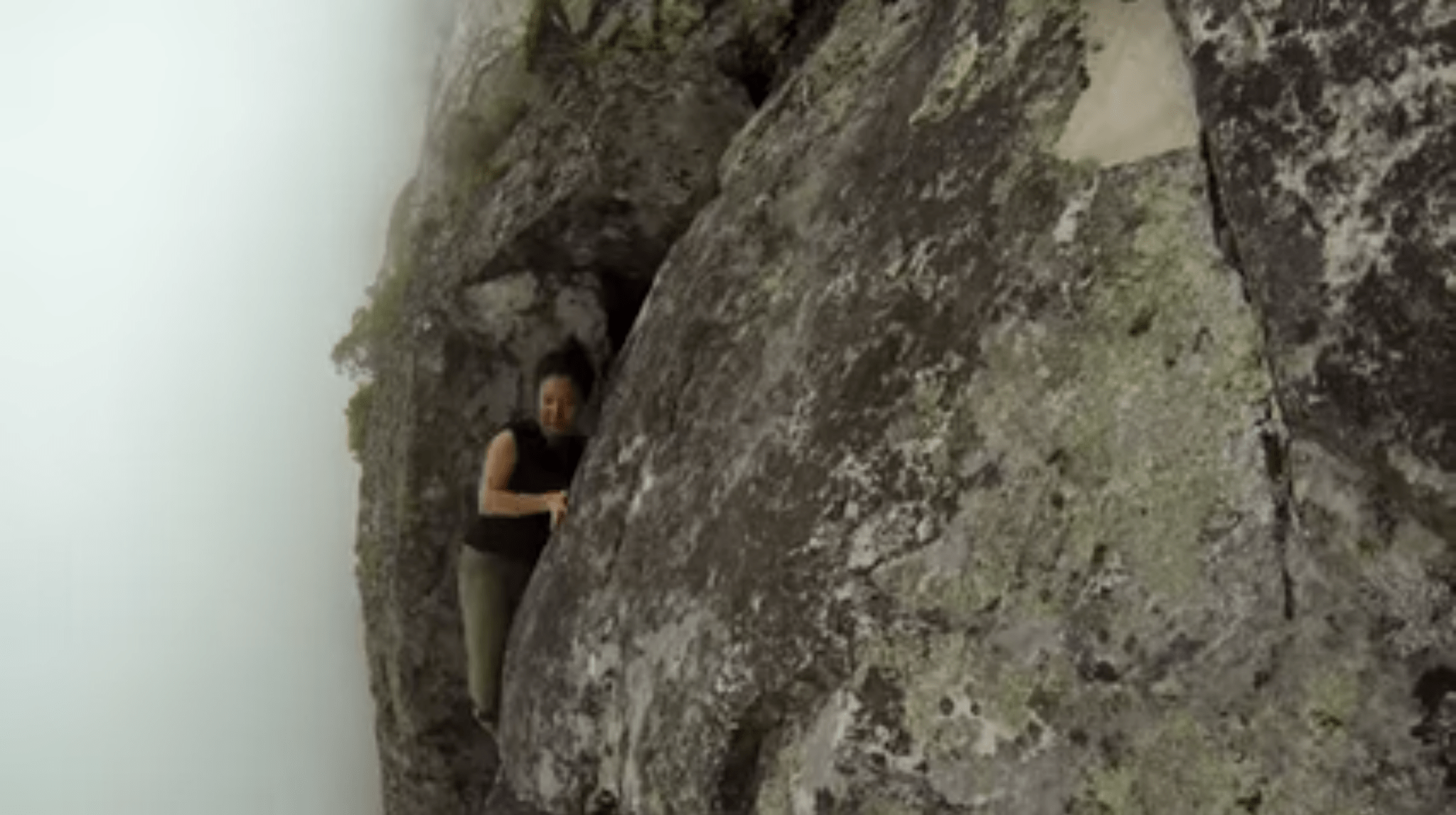 Yi-Jia Susanne Hou on the Arrow Face, Table Mountain