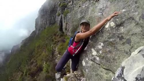 Arrow Face Traverse on Table Mountain.