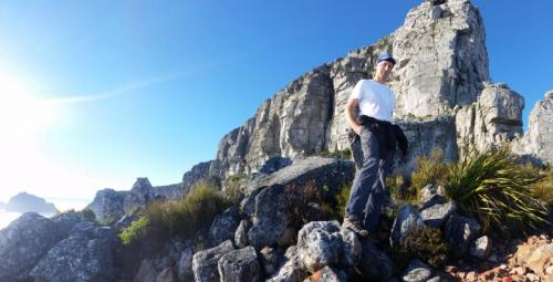Christoph on the India Venster, Table Mountain.
