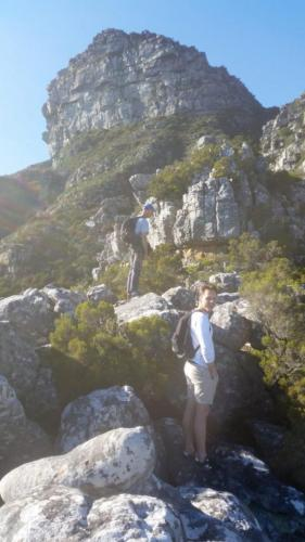 Petrus on Wood buttress, Table Mountain